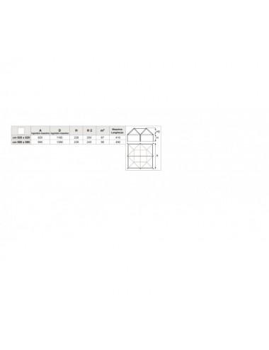 GAZEBO AIRONE D struttura Quadrata