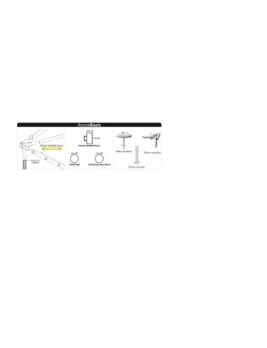 Gazebo Airone D struttura RETTANGOLARE